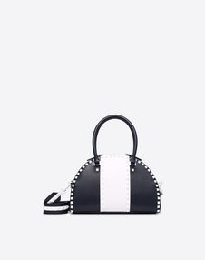 VALENTINO GARAVANI Double handle bag D Free Rockstud Double Handle Bag f