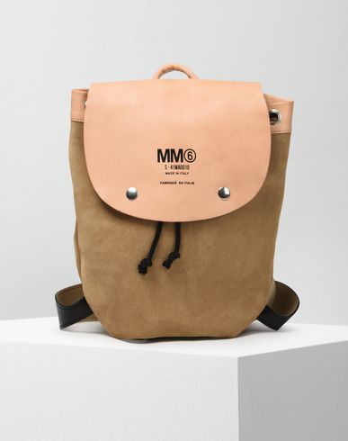 MM6 MAISON MARGIELA Rucksack D Calfskin and suede backpack f