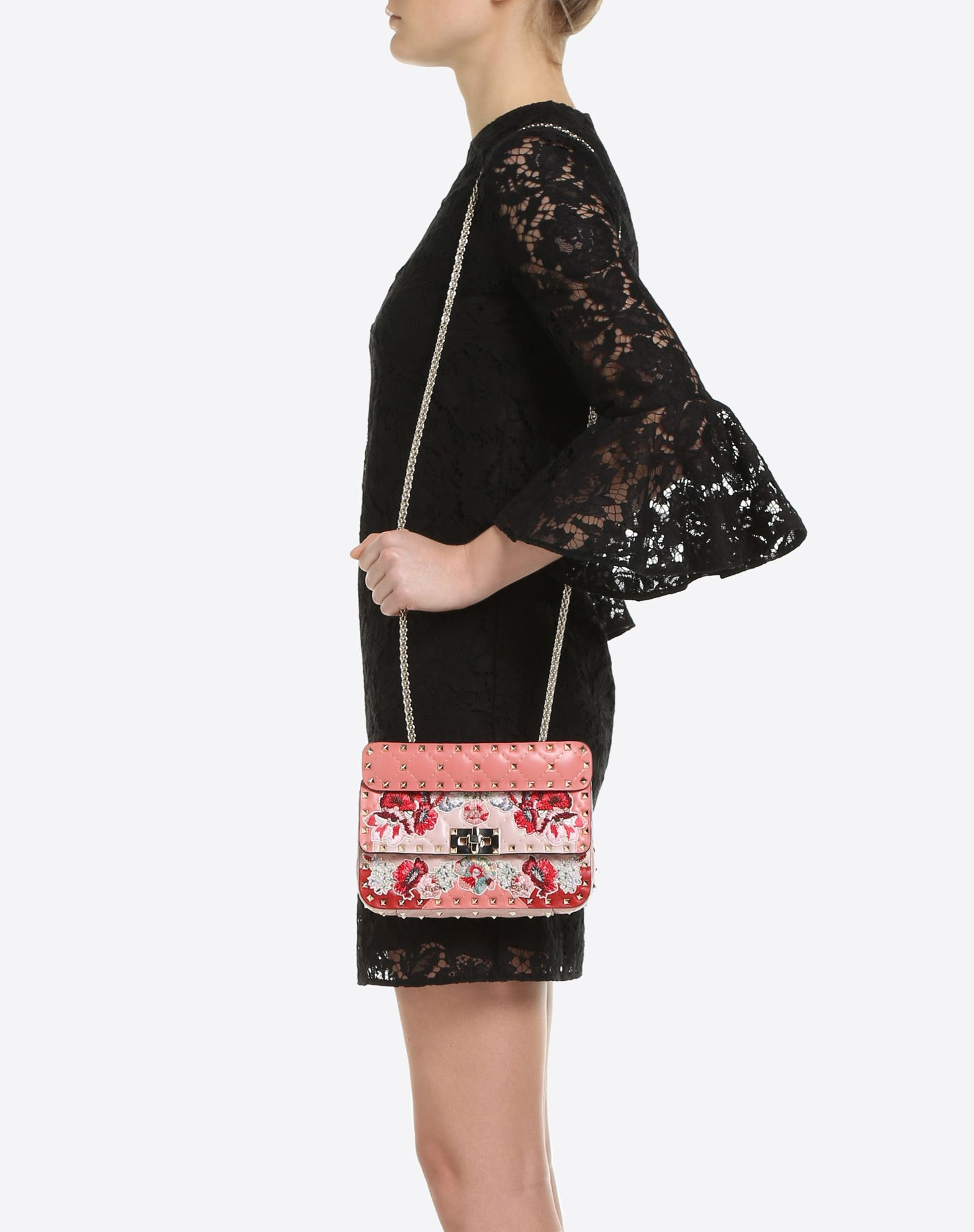 VALENTINO GARAVANI Rockstud Spike.It Small Chain Bag Shoulder bag D a