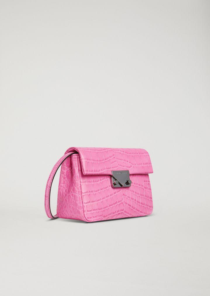 EMPORIO ARMANI Croc print leather crossbody bag Mini Bag Woman d