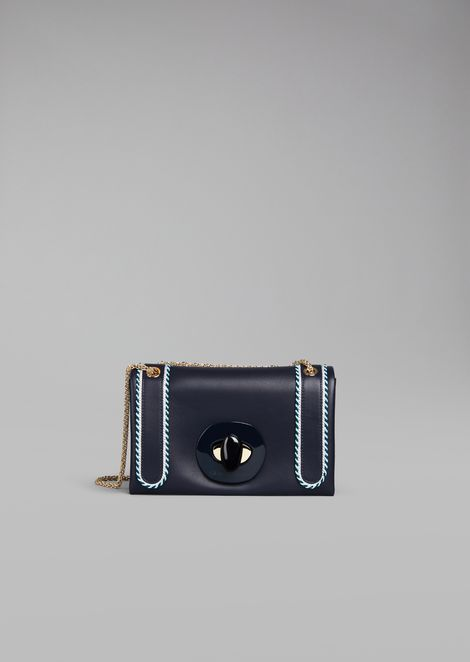 Smooth nappa shoulder bag
