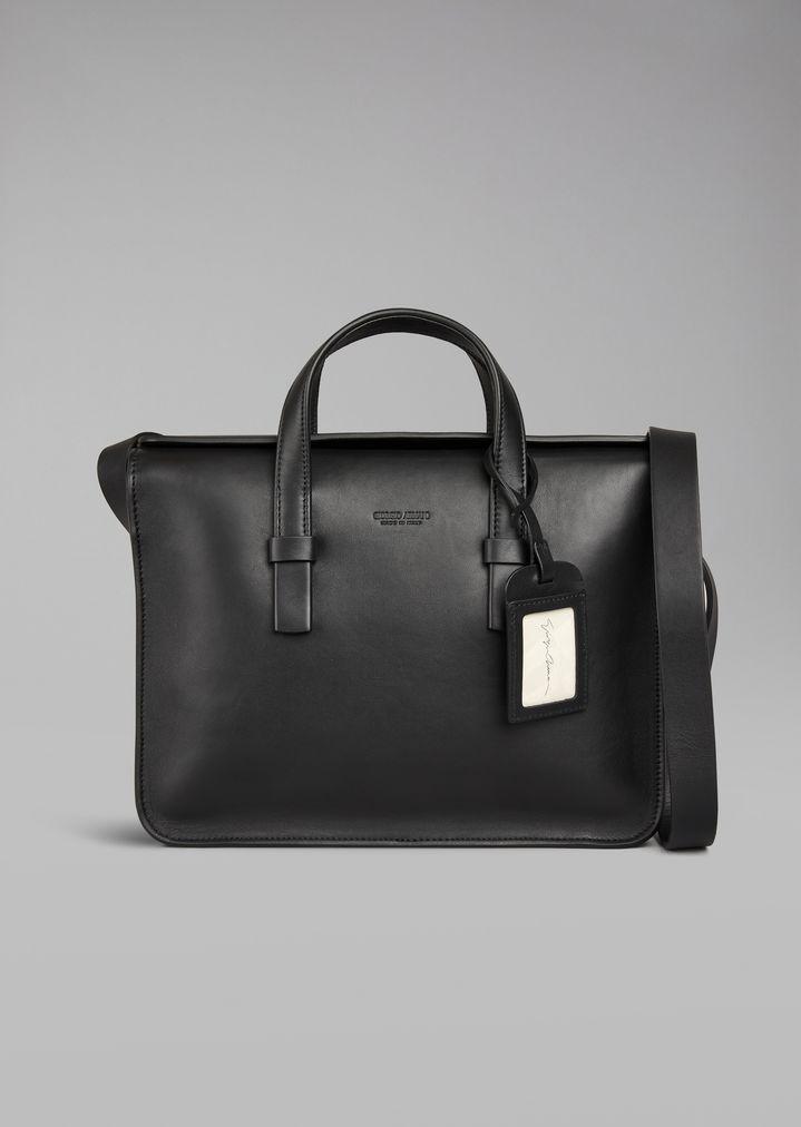 Smooth leather laptop bag  353cd86323b8b