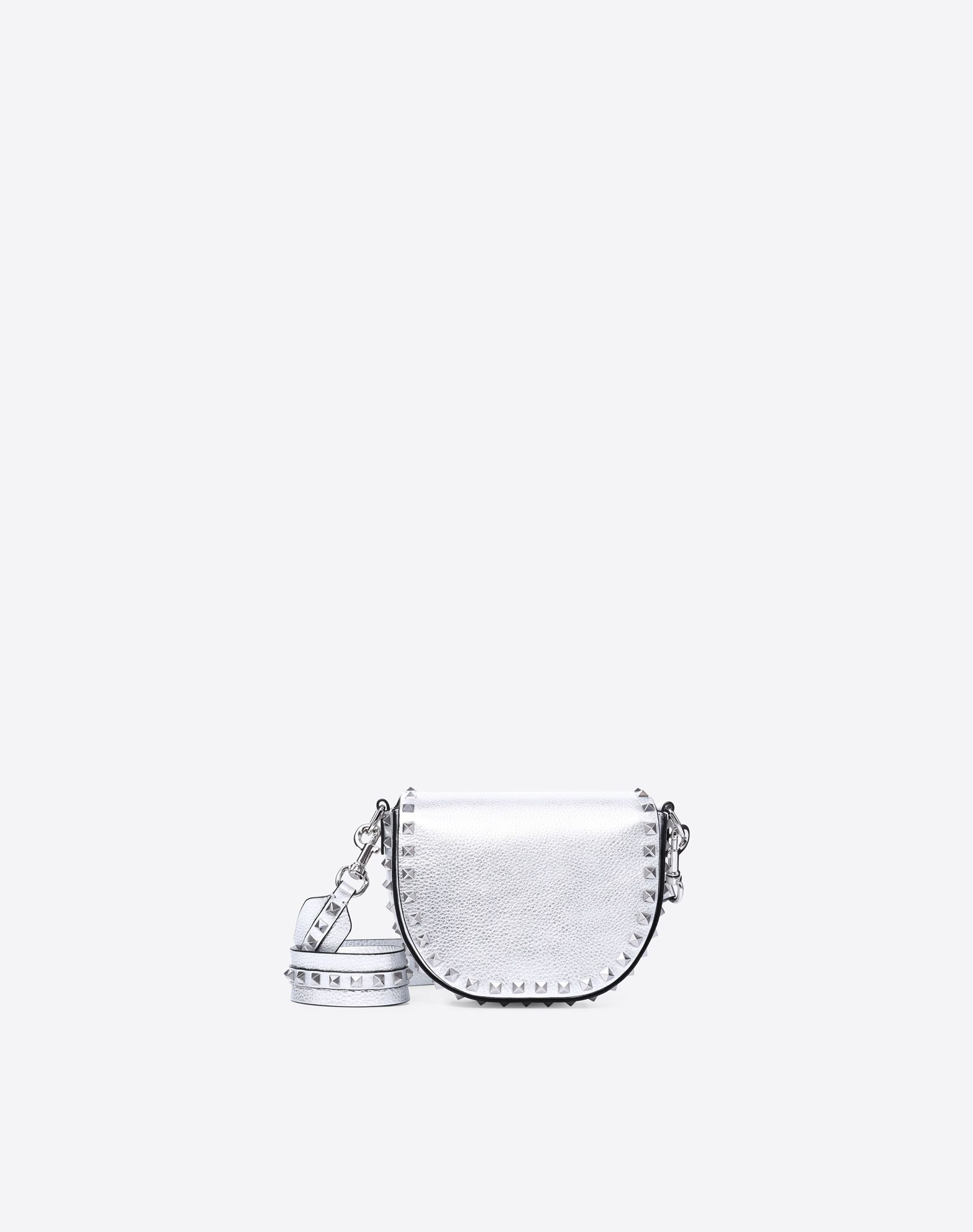 VALENTINO Studs Textured leather Solid colour Magnetic closure Removable shoulder strap Internal pockets  45402764nm