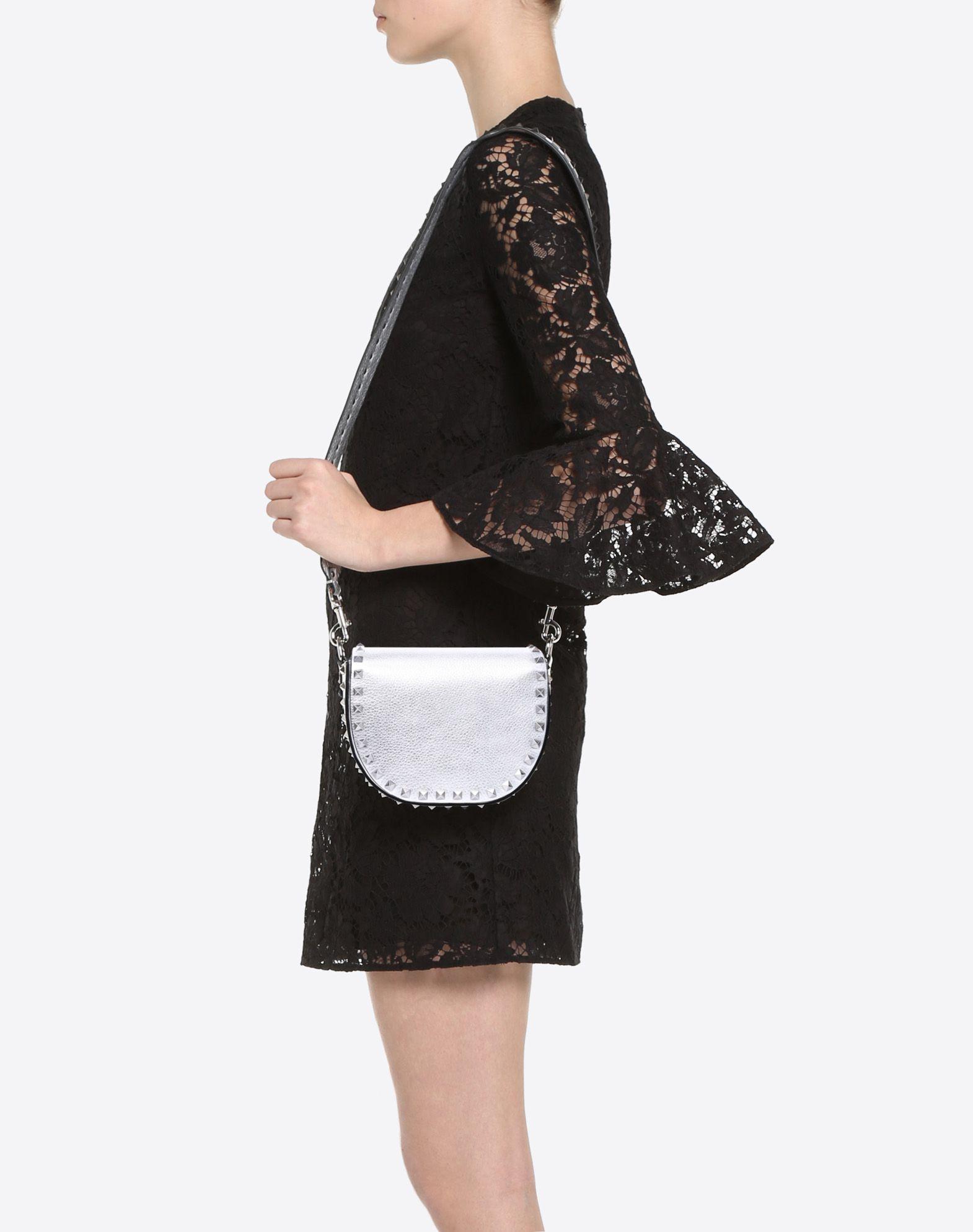 VALENTINO GARAVANI Rockstud Mini Shoulder Bag CROSS BODY BAG D a