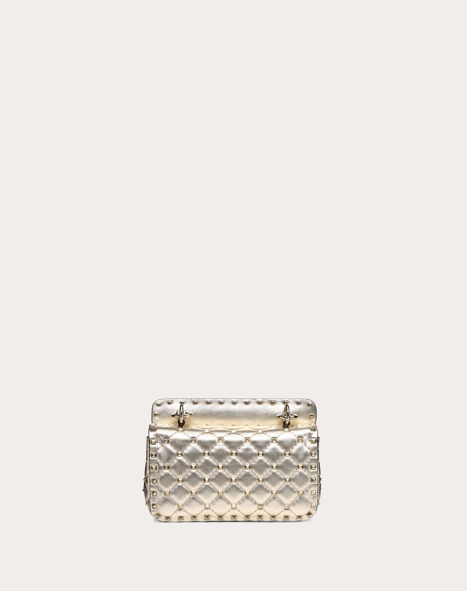 VALENTINO Studs Framed closure Laminated effect Removable shoulder strap Quilted  45402902xh