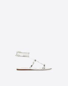 VALENTINO GARAVANI FLAT SANDALS D 透明细节低跟凉鞋 f