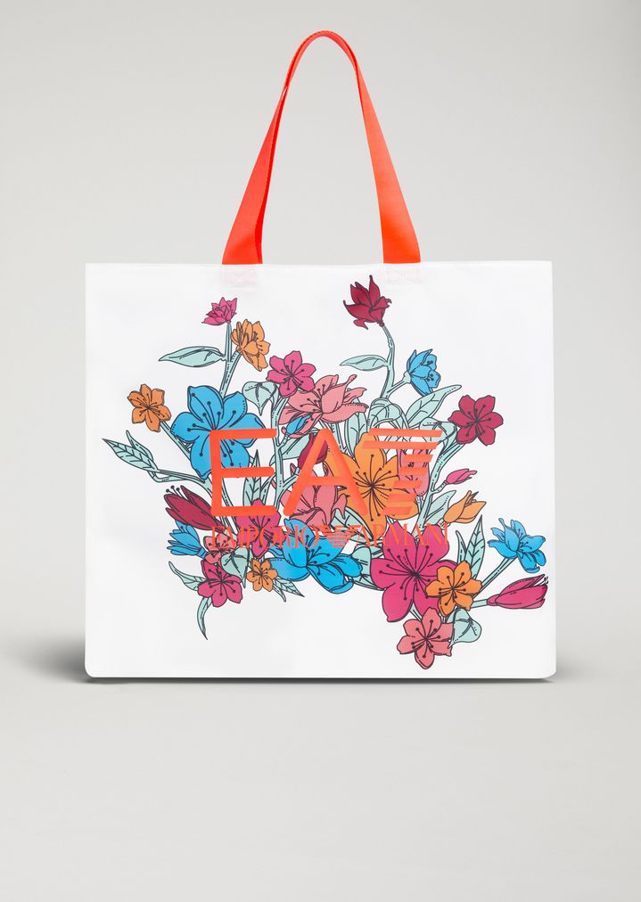 2bdd947c2f Technical fabric tote bag with floral print | Woman | Ea7