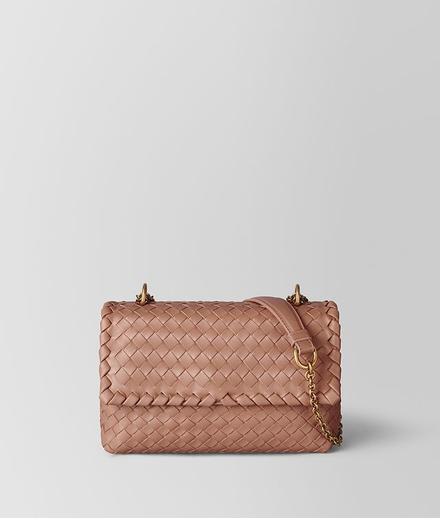 BOTTEGA VENETA BORSA BABY OLIMPIA IN INTRECCIATO NAPPA DAHLIA Shoulder Bag [*** pickupInStoreShipping_info ***] fp
