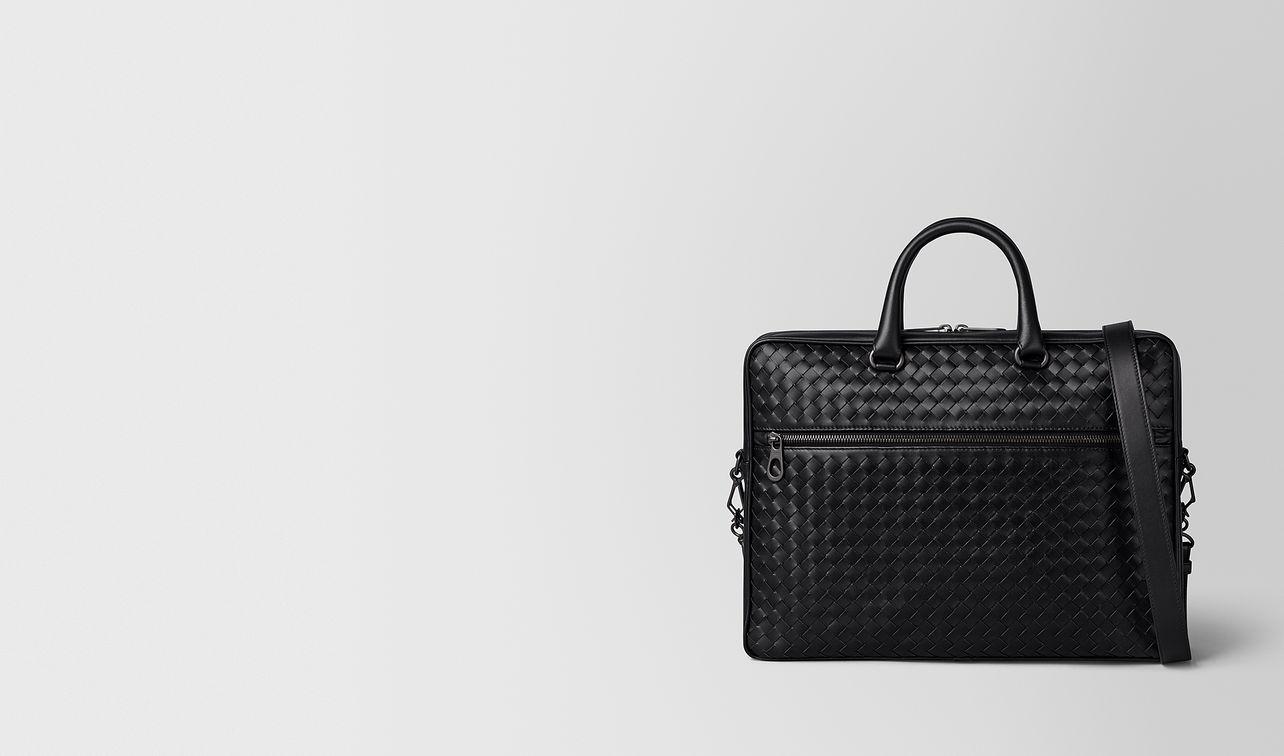 nero intrecciato vn small briefcase landing