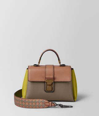 LIMESTONE MULTICOLOR NAPPA PIAZZA BAG