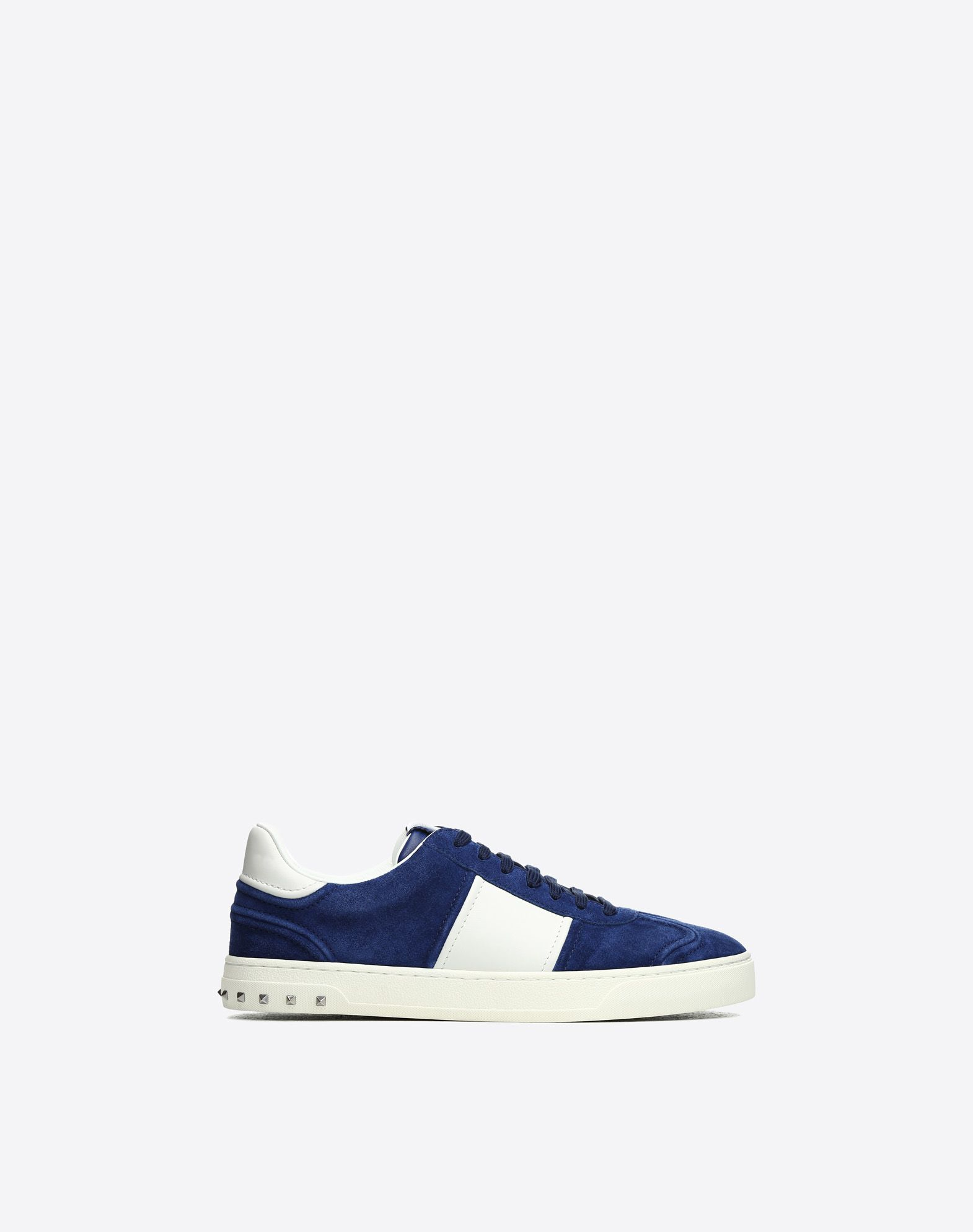 VALENTINO Contrasting applications Suede effect Elasticized gores Two-tone Leather lining Round toeline Rubber sole  45405836ej