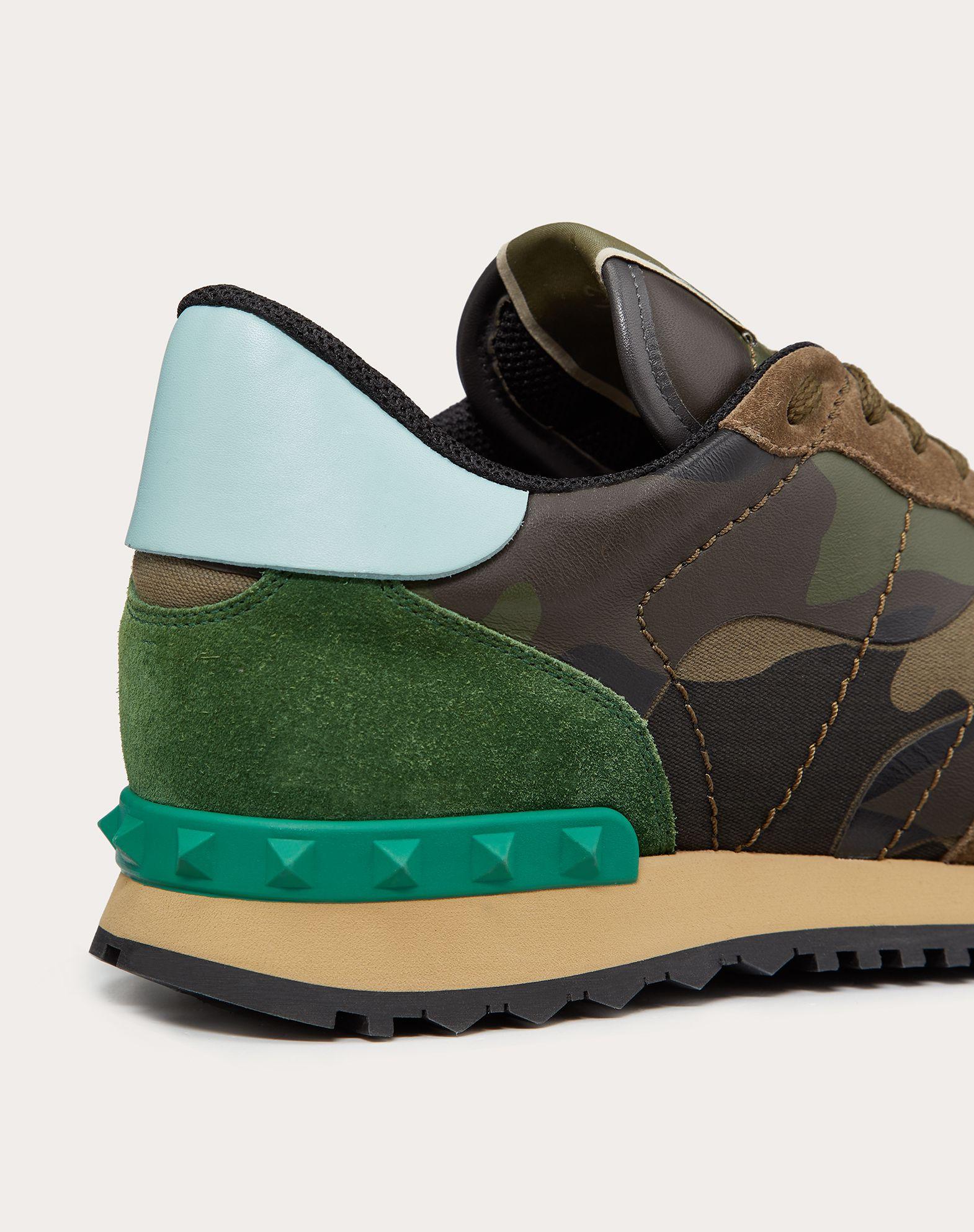 VALENTINO GARAVANI UOMO Sneaker Rockrunner Camouflage LOW-TOP SNEAKERS U a