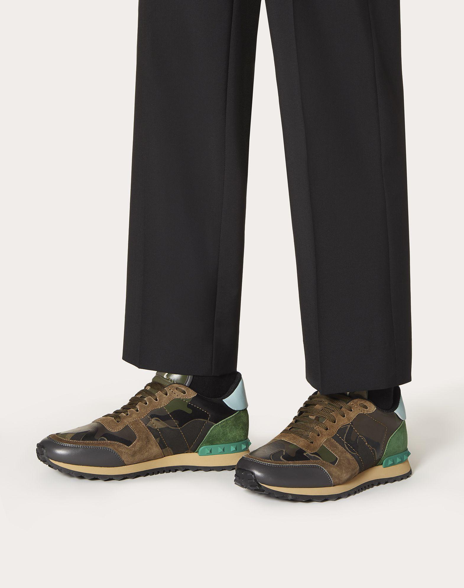VALENTINO GARAVANI UOMO Sneaker Rockrunner Camouflage LOW-TOP SNEAKERS U b