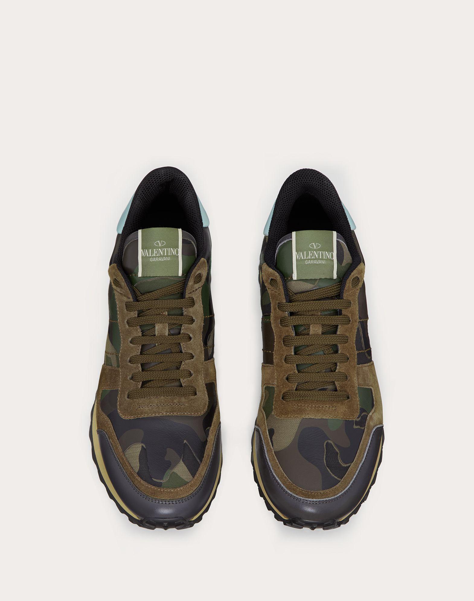 VALENTINO GARAVANI UOMO Sneaker Rockrunner Camouflage LOW-TOP SNEAKERS U e