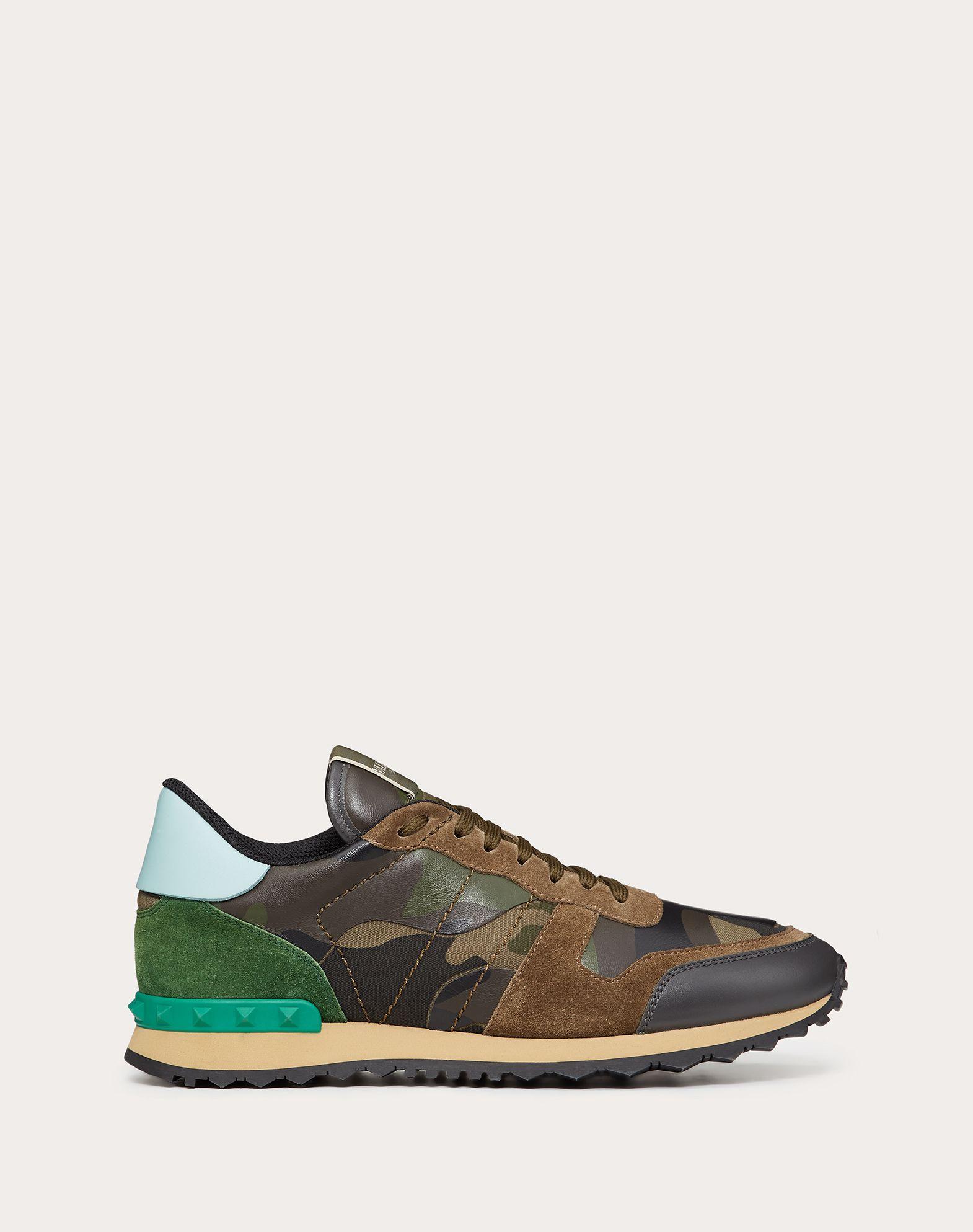 VALENTINO GARAVANI UOMO Sneaker Rockrunner Camouflage LOW-TOP SNEAKERS U f