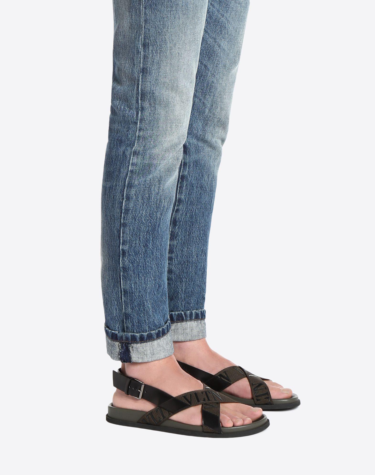 VALENTINO GARAVANI UOMO Low VLTN sandal  FLAT SANDALS U a