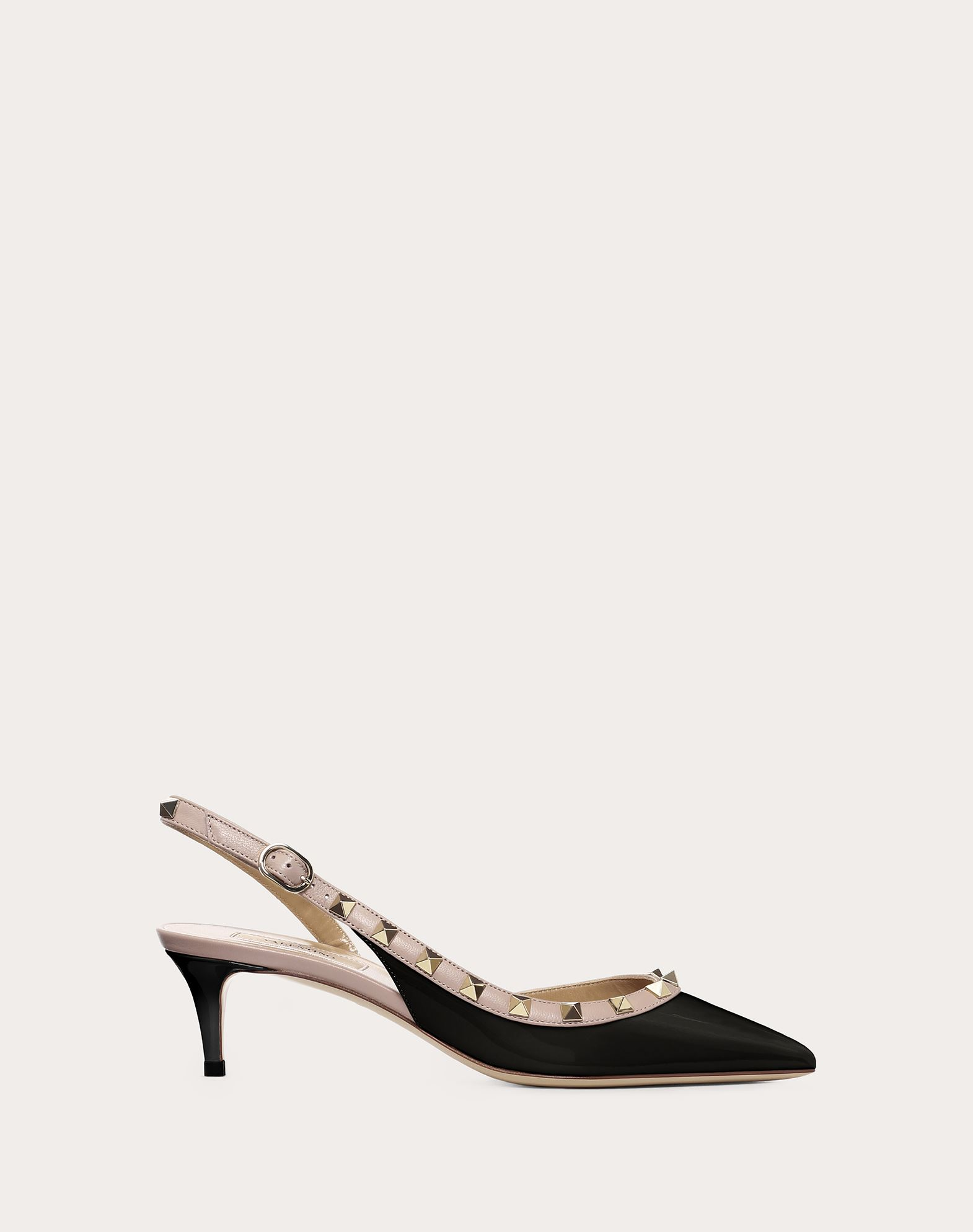 VALENTINO Two-tone Spike heel Varnished effect Studded Buckle Narrow toeline Leather lining Leather sole  45406011kk