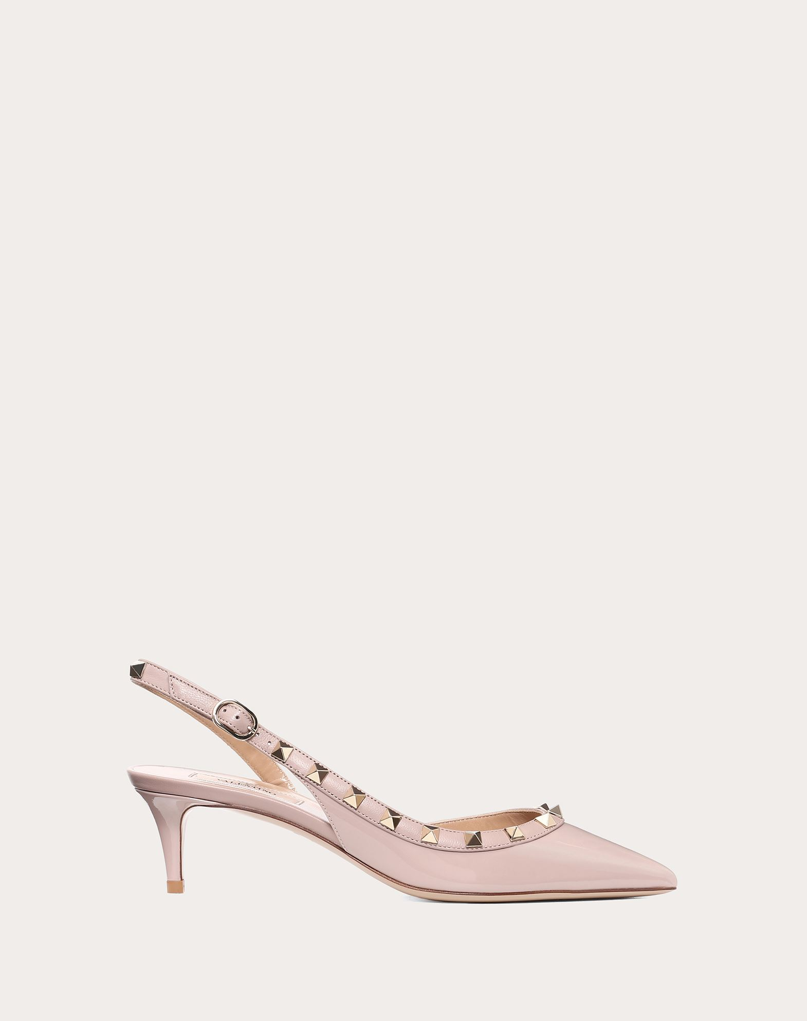 VALENTINO Studs Narrow toeline Leather lining Leather sole Spike heel Side buckle closure Varnished effect Solid colour  45406020rc