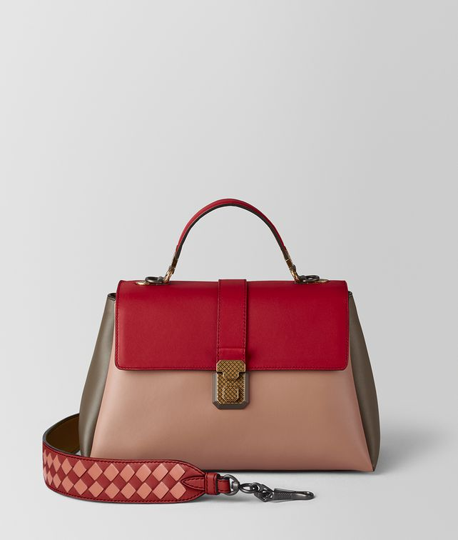 BOTTEGA VENETA DAHLIA MULTICOLOR NAPPA PIAZZA BAG Top Handle Bag [*** pickupInStoreShipping_info ***] fp