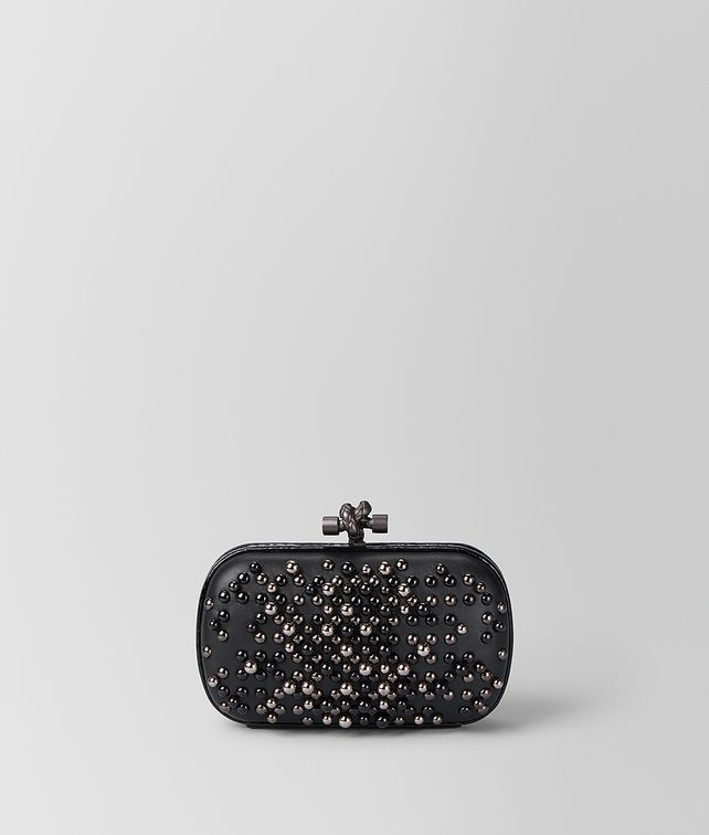 BOTTEGA VENETA NERO SPHERES KNOT Clutch [*** pickupInStoreShipping_info ***] fp