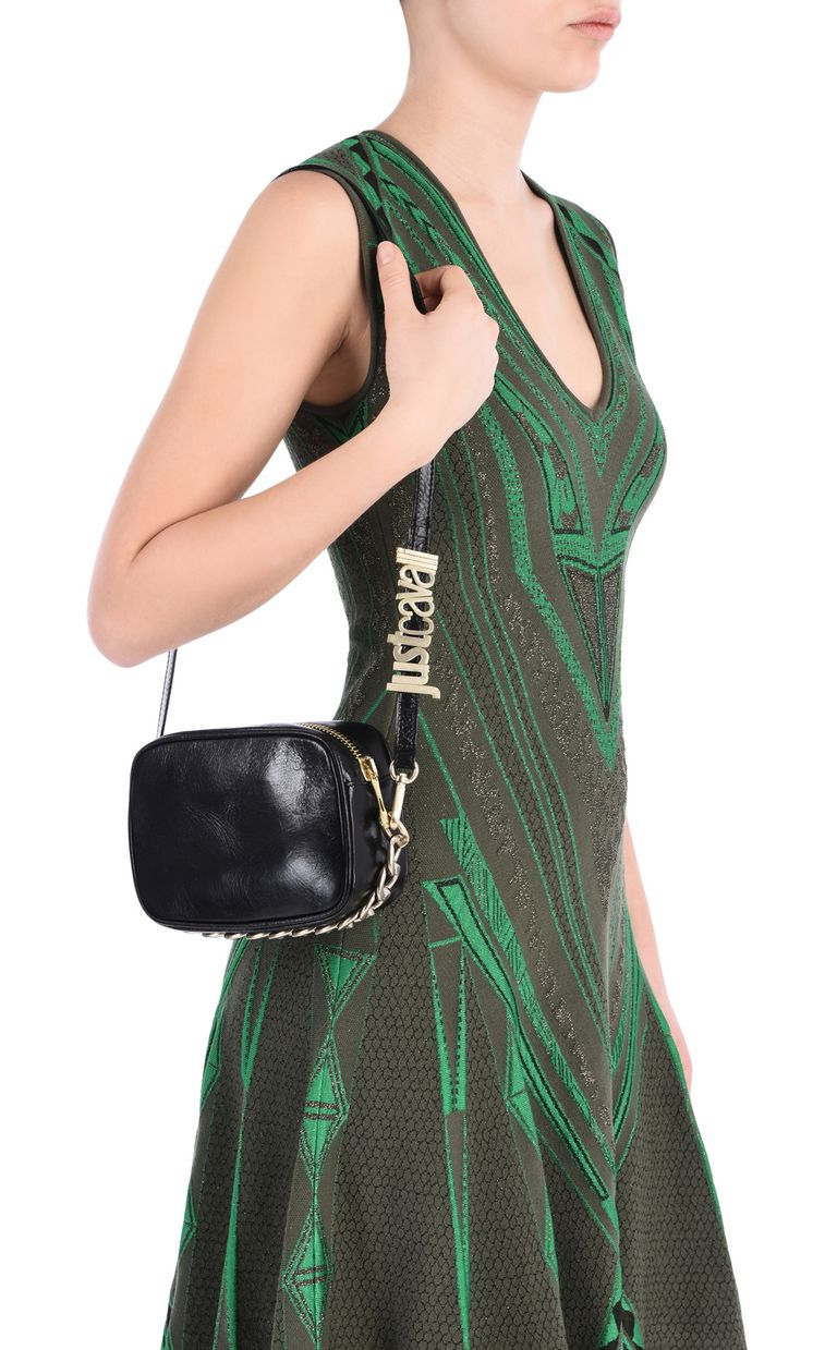 JUST CAVALLI Clutch with shoulder strap and logo Clutch [*** pickupInStoreShipping_info ***] r