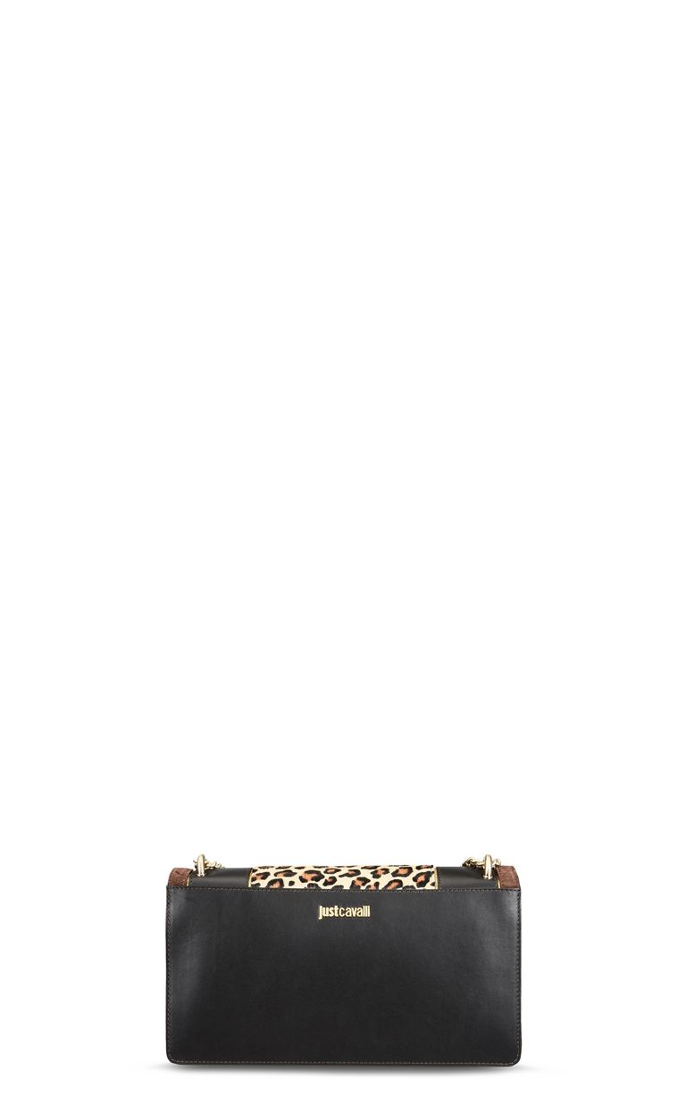 JUST CAVALLI Leopard shoulder bag with fringe Crossbody Bag Woman e