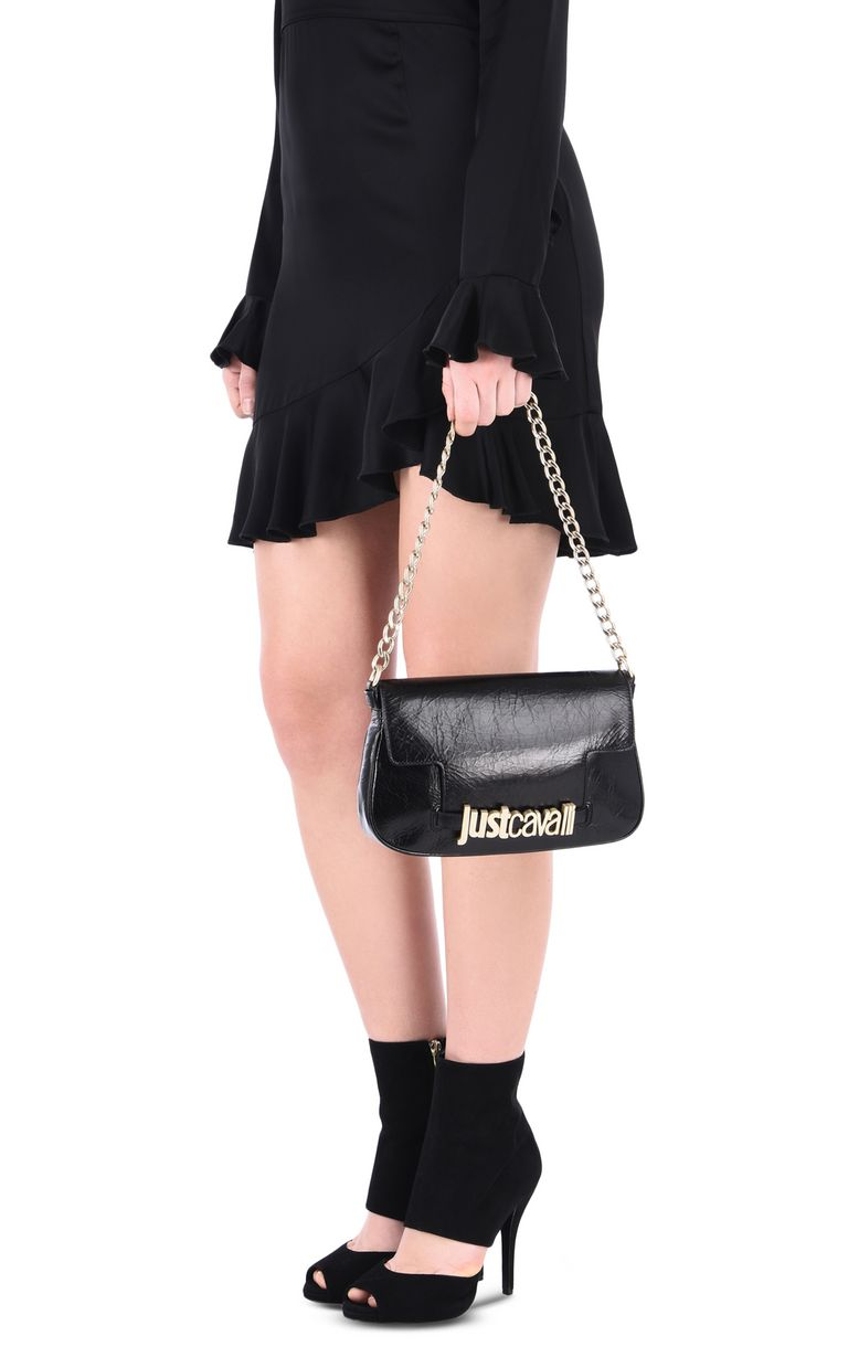 JUST CAVALLI Shoulder bag with chain and logo Crossbody Bag [*** pickupInStoreShipping_info ***] r