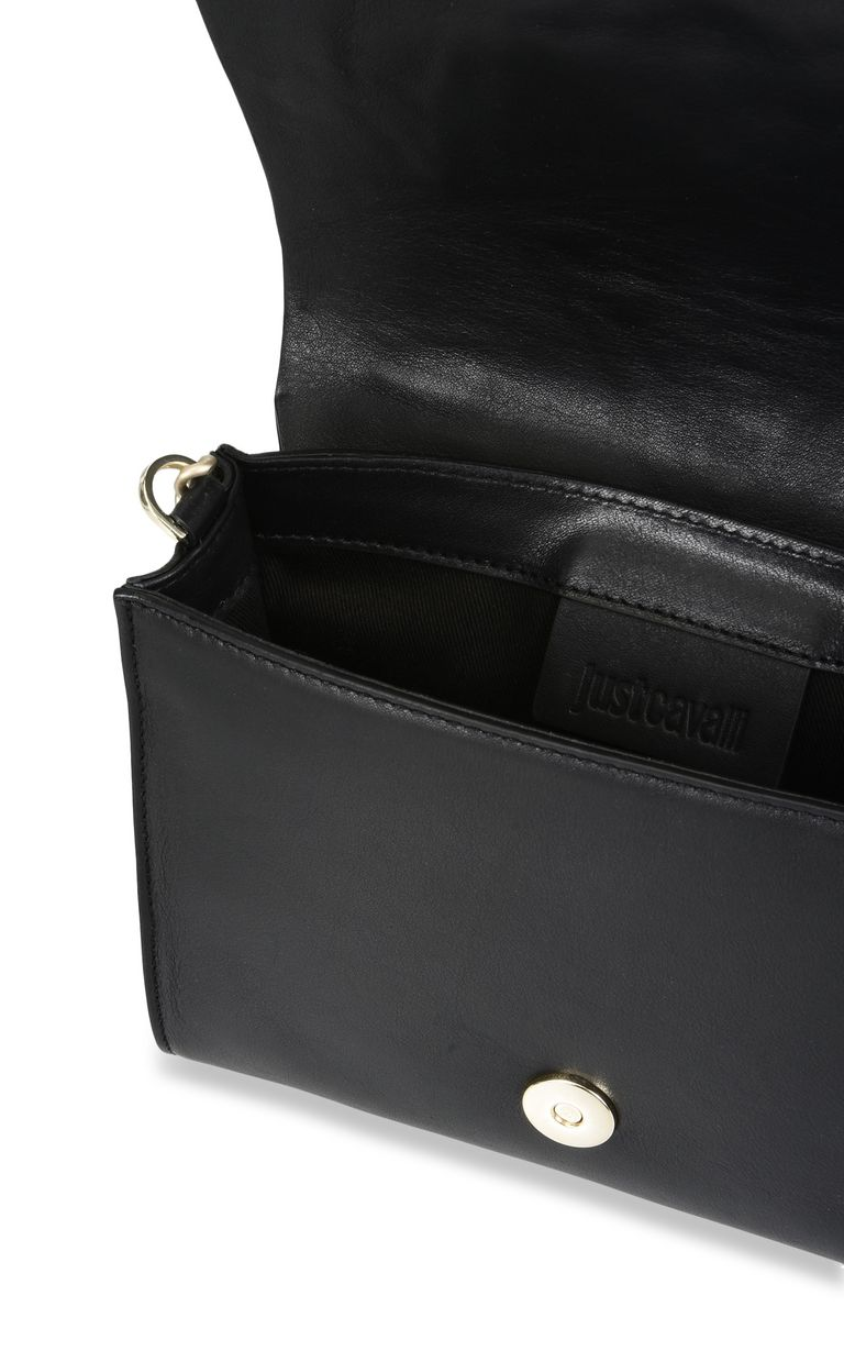 JUST CAVALLI Snake head shoulder bag with studs Crossbody Bag [*** pickupInStoreShipping_info ***] a