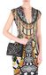 JUST CAVALLI Snake head shoulder bag with studs Crossbody Bag Woman r