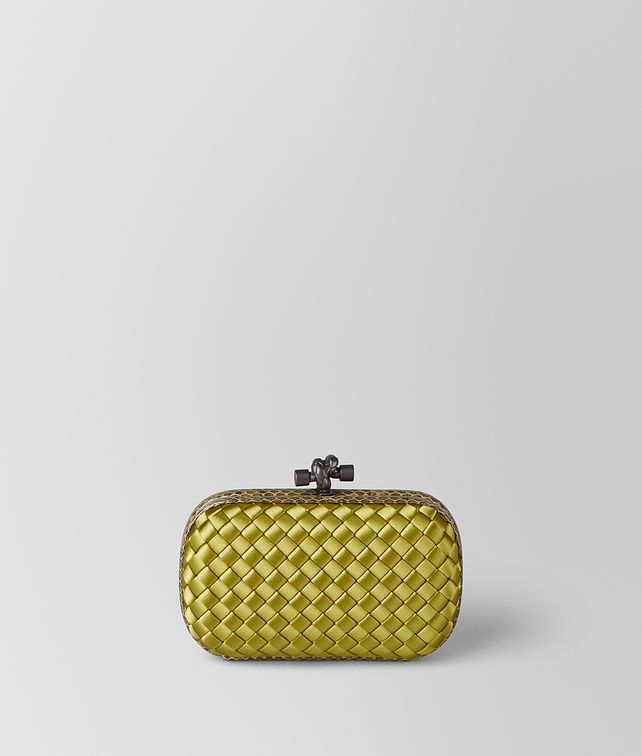 BOTTEGA VENETA CHAMOMILE INTRECCIATO IMPERO KNOT Clutch Woman fp