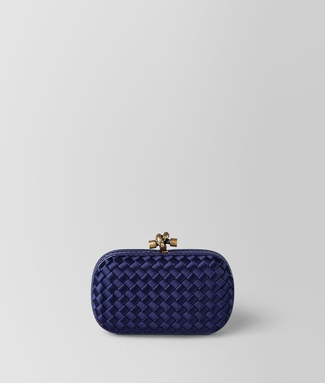BOTTEGA VENETA KNOT TASCHE AUS INTRECCIATO IMPERO IN ATLANTIC Clutch [*** pickupInStoreShipping_info ***] fp