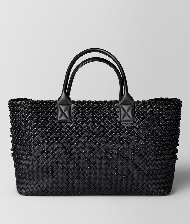BOTTEGA VENETA NERO SPHERES CABAT Tote Bag [*** pickupInStoreShipping_info ***] fp