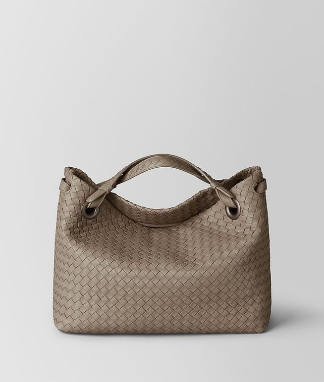 BOTTEGA VENETA LIMESTONE INTRECCIATO NAPPA SHOULDER BAG Shoulder Bag Woman fp