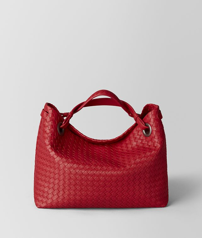 BOTTEGA VENETA CHINA RED INTRECCIATO NAPPA SHOULDER BAG Shoulder Bag Woman fp