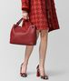 BOTTEGA VENETA CHINA RED INTRECCIATO NAPPA SHOULDER BAG Shoulder Bag Woman ap