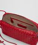BOTTEGA VENETA BORSA MESSENGER IN INTRECCIATO NAPPA CHINA RED Borsa a Tracolla Donna dp