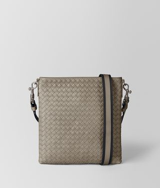 DARK CEMENT INTRECCIATO VN SMALL MESSENGER