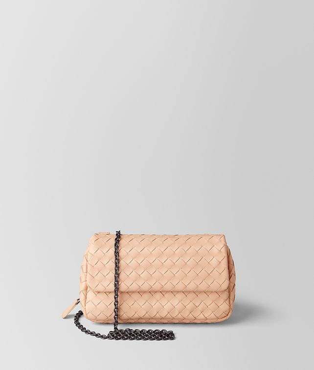 BOTTEGA VENETA PEACH ROSE INTRECCIATO NAPPA MESSENGER Crossbody and Belt Bags [*** pickupInStoreShipping_info ***] fp