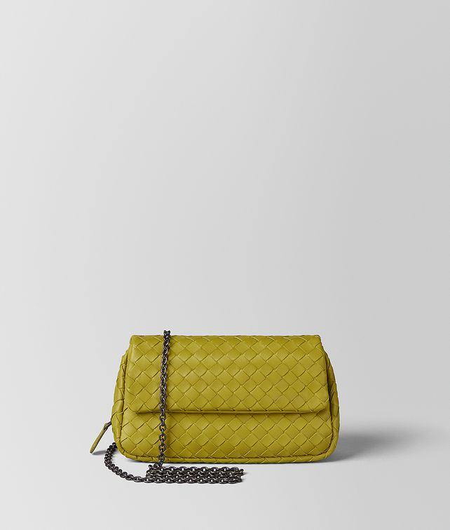 BOTTEGA VENETA CHAMOMILE INTRECCIATO NAPPA MESSENGER Crossbody bag Woman fp