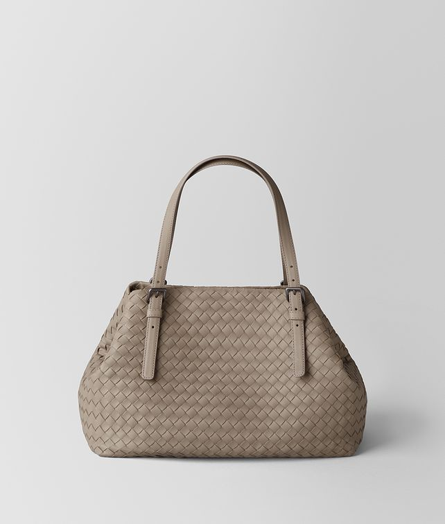 BOTTEGA VENETA LIMESTONE INTRECCIATO NAPPA TOTE Tote Bag Woman fp