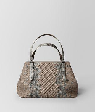 石灰色INTRECCIATO编织IMPERATRICE购物袋