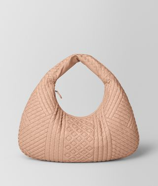 BORSA VENETA IN INTRECCIATO VITELLO PEACH ROSE