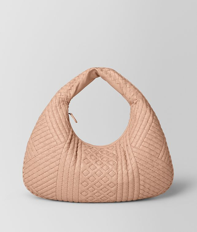 BOTTEGA VENETA PEACH ROSE INTRECCIATO CALF VENETA BAG Hobo Bag Woman fp