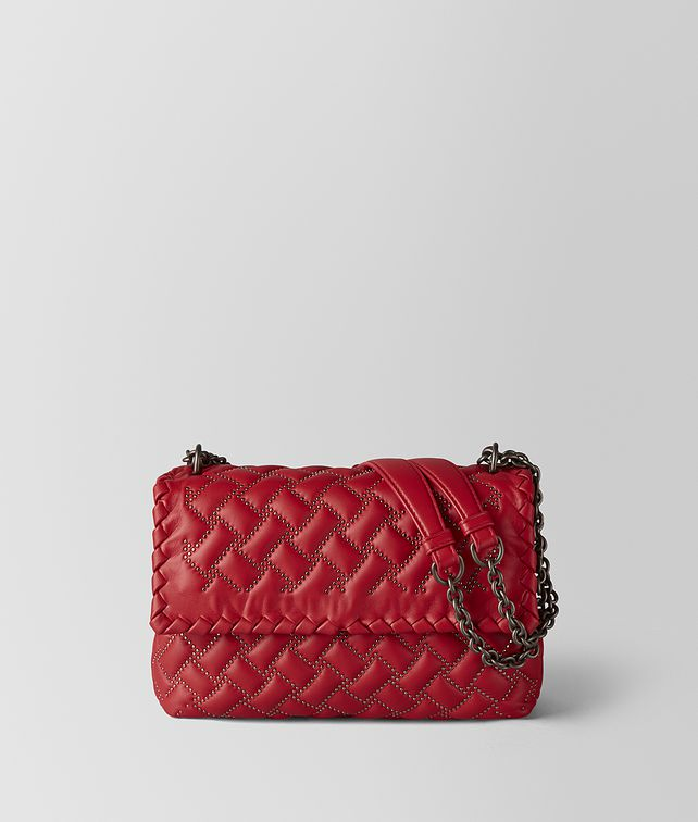 BOTTEGA VENETA CHINA RED NAPPA MICROSTUDS OLIMPIA BAG Shoulder Bag [*** pickupInStoreShipping_info ***] fp