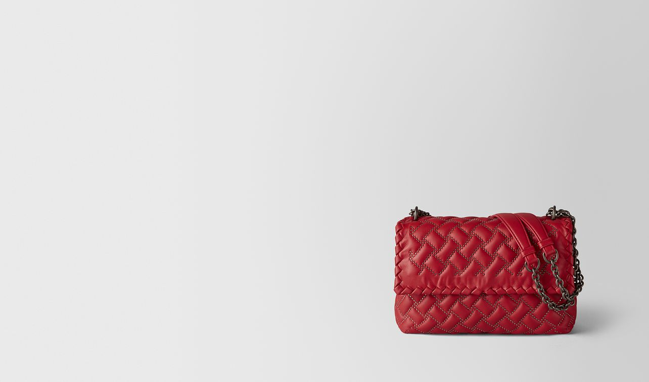 china red nappa microstuds olimpia bag landing