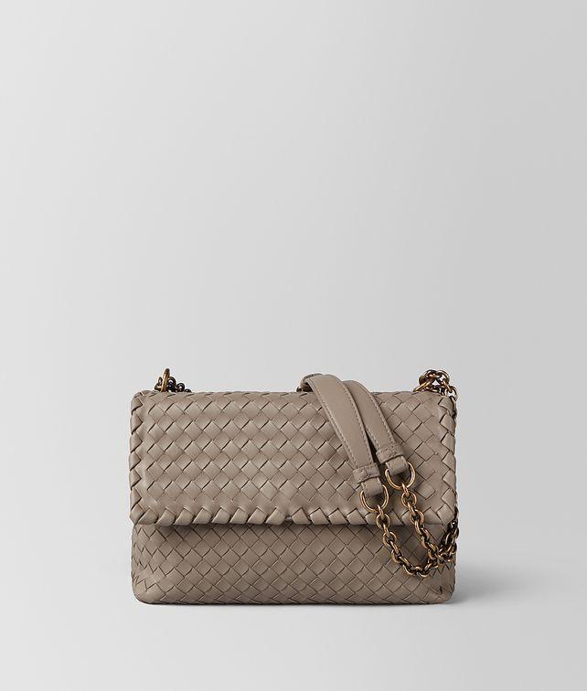 BOTTEGA VENETA LIMESTONE INTRECCIATO NAPPA OLIMPIA BAG Shoulder Bag Woman fp