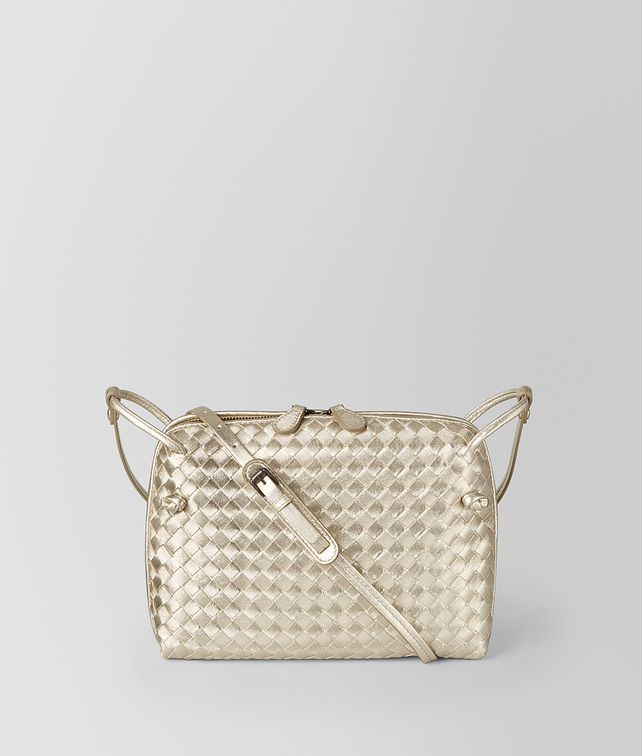 BOTTEGA VENETA PLATINO INTRECCIATO GROS GRAIN MESSENGER Crossbody bag Woman fp
