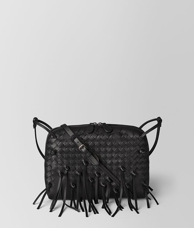 BOTTEGA VENETA NERO INTRECCIATO BRIO MESSENGER Crossbody bag [*** pickupInStoreShipping_info ***] fp