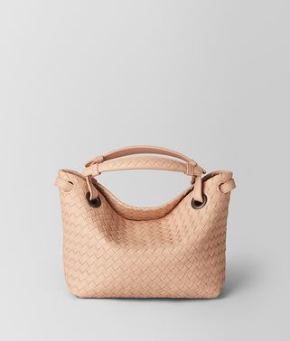 PEACH ROSE INTRECCIATO NAPPA SHOULDER BAG