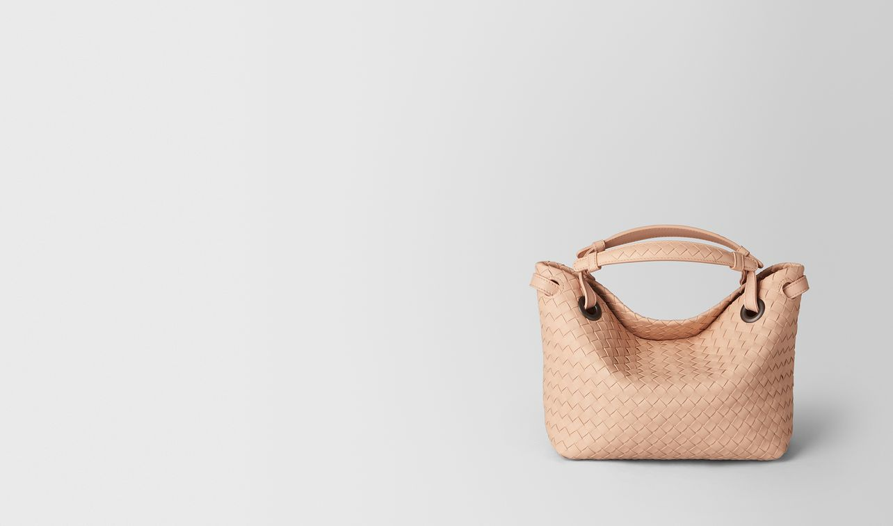 peach rose intrecciato nappa shoulder bag landing